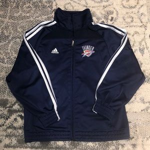 Awesome Adidas OKC THUNDER warm-up jacket!